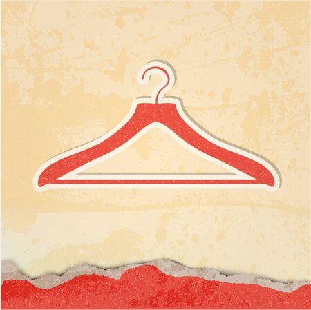 clothing rack: clothes hanger retro poster  Illustration