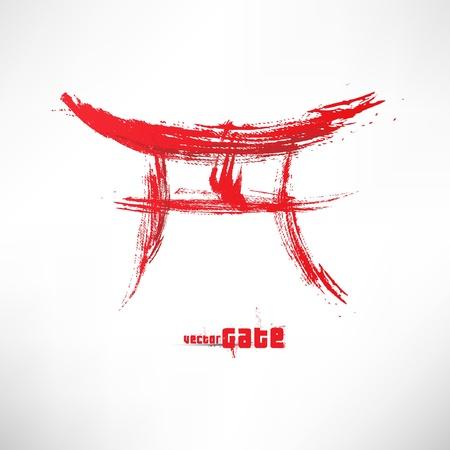 Japan Gate Ilustrace