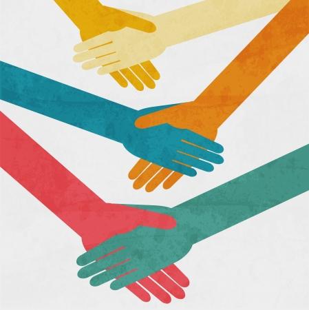 apret�n de manos: Apret�n de manos de fondo