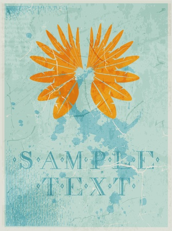 Abstract pattern for design. Retro Poster with wings