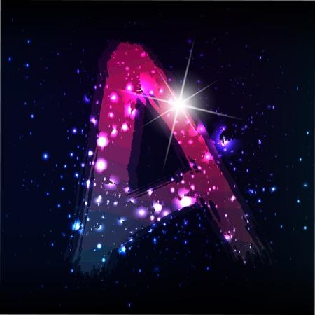 homosexual: Vector alphabet. Neon letter
