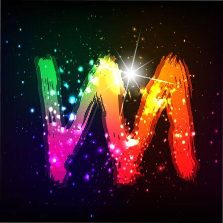 Vector alphabet. Neon letter Stock Vector - 11837859
