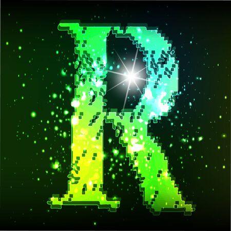 Vector alphabet. Neon letter