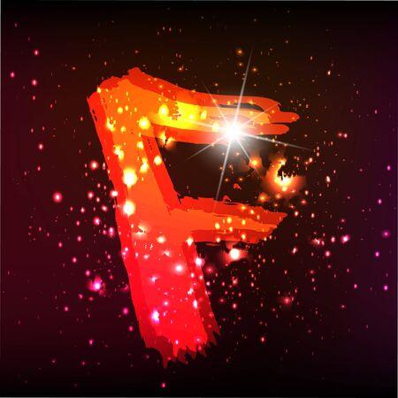 neon letter: Vector alphabet. Neon letter