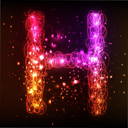 Glowing neon font. Shiny letter Stock Vector - 11837963