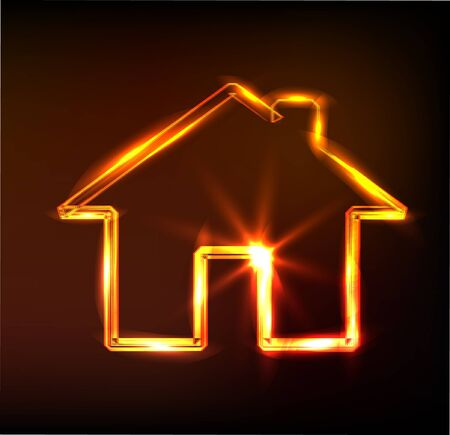 home sign, Stock Illustratie