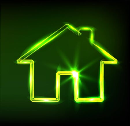 glassy: home sign, Illustration