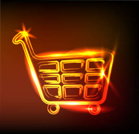 shiny shopping cart sign Stock Vector - 11837755