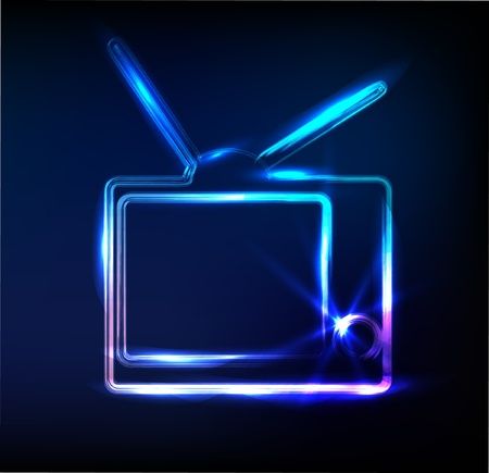 multimedia background: glossy tv sign
