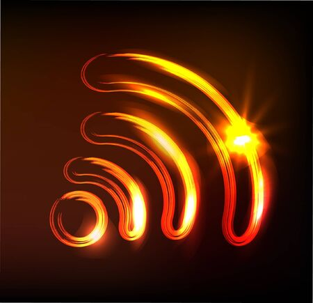 wireless sign, Vector