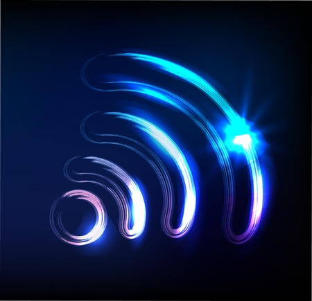 wireless sign, Vector