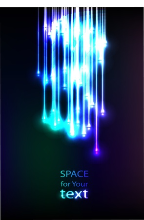 Abstract Optical Fibers Иллюстрация