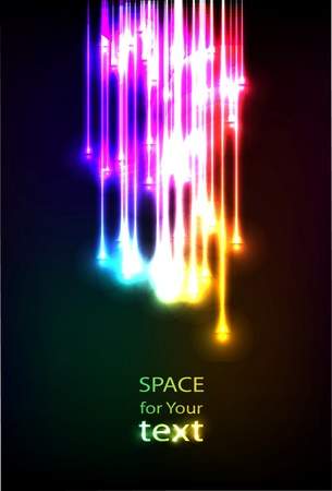 optic: Abstract Optical Fibers Illustration