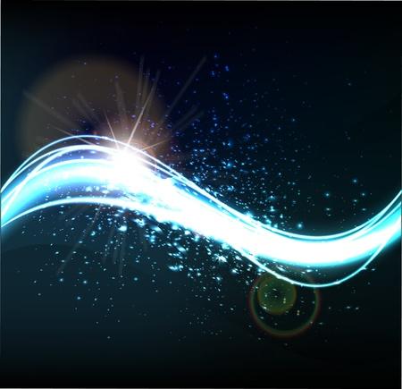 electric spark: smooth waveform vector background