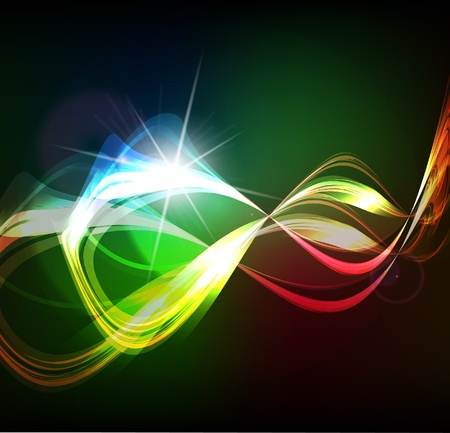 smooth waveform vector background Vector
