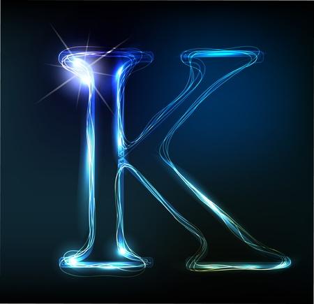 Glowing neon lettertype. Shiny brief Stock Illustratie