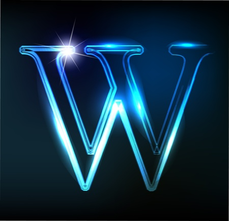 shiny background: Glowing neon font. Shiny letter
