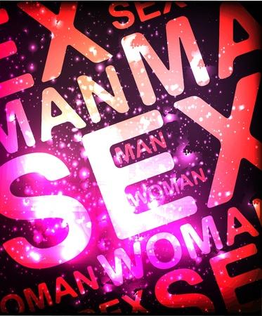 Sex gloeiende achtergrond Stock Illustratie