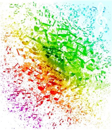 nota musical: grunge fondo musical
