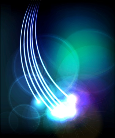 optical fiber: Abstract Optical Fibers Illustration