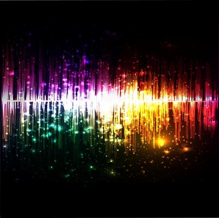 musica electronica: Vector de música ecualizador de onda Vectores