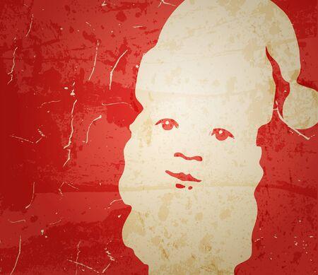 Santa Claus. Portrait on grunge background Stock Vector - 11418145