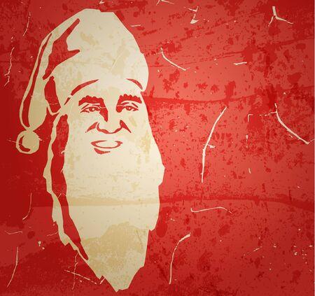 Santa Claus. Portrait on grunge background Stock Vector - 11418140