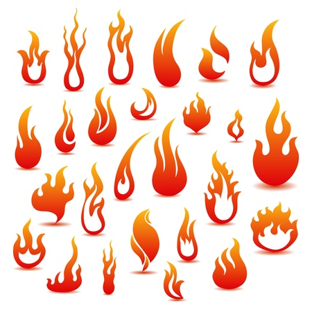 Collection of fire icons Stock Vector - 11418127
