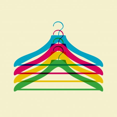 clothing rack: clothes hanger Illustration