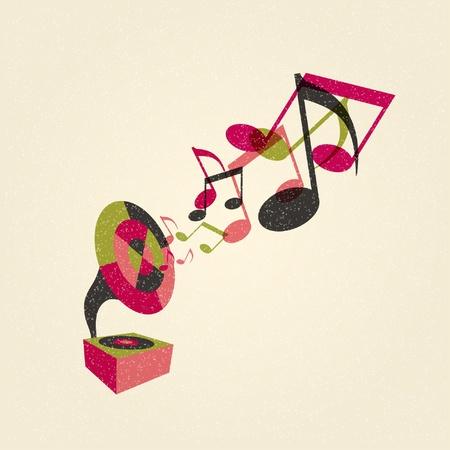 grammofoon met muziek