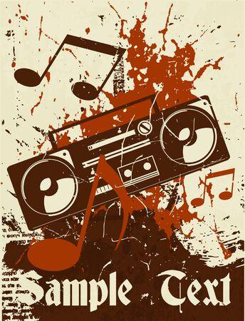 Muzikale achtergrond. Cassetterecorder