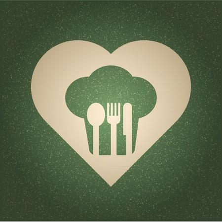 soup spoon: restaurant menu retro poster