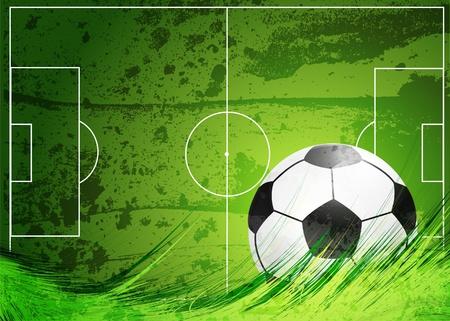soccer: Campo de fútbol Vectores