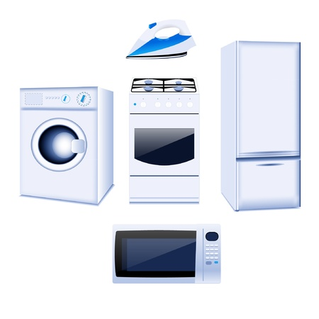 Set of household electronic elements Vector