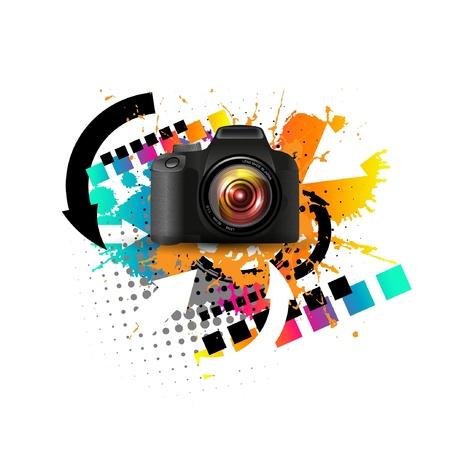 現代のデジタル カメラ