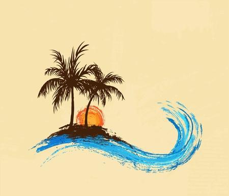 playas tropicales: Palmeras