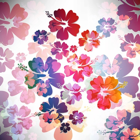 aloha: Abstract tropical background