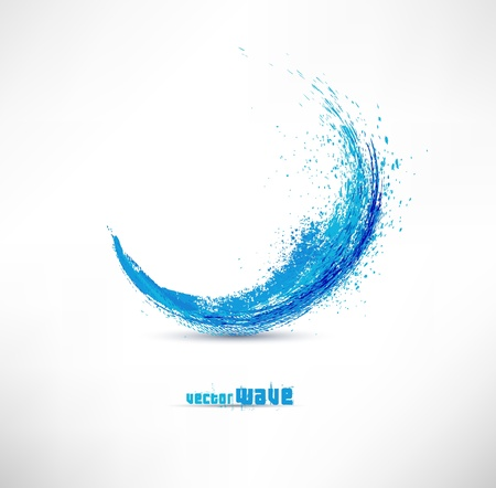 gradient: Vector illustration of abstract blue wave Illustration