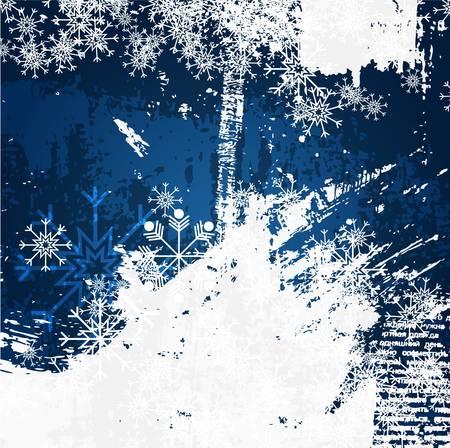 Christmas decoration grunge background Ilustrace