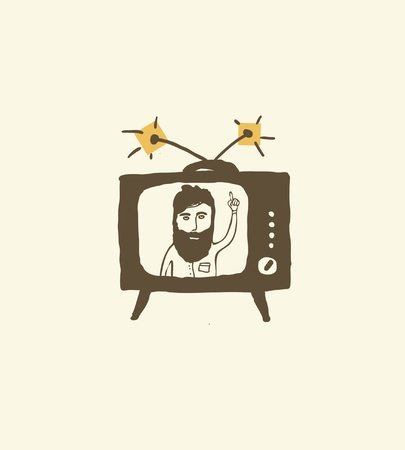 bearded man: bearded man newscast presenter