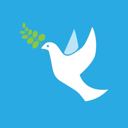 고요한 장면: 평화 벡터의 비둘기 일러스트