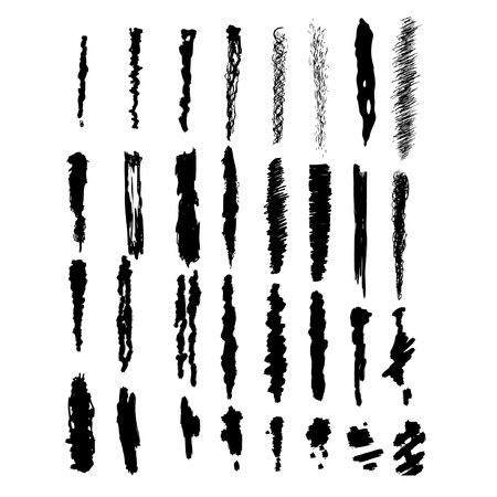Brush-blot, grunge design elementen Stock Illustratie
