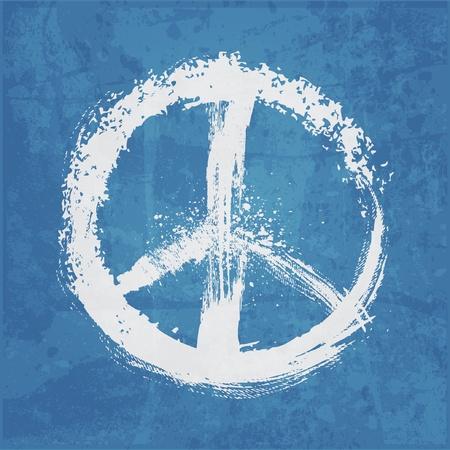 paz mundial: ilustraci�n de signo de la paz