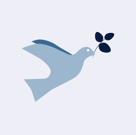 peaceful: Dove of Peace Vector Illustration