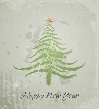 Christmas tree grunge background Vector