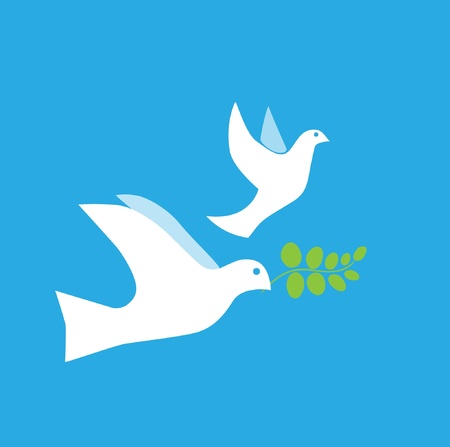 world peace: Dove of Peace Vector Illustration