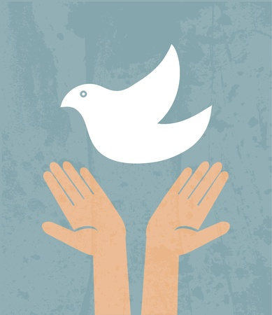 calmness: Dove of Peace Vector Illustration