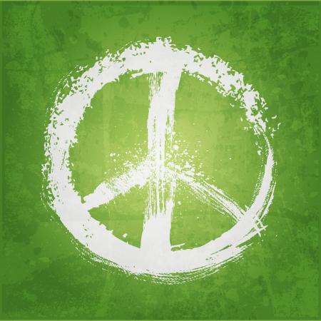 illustratie van vredesteken