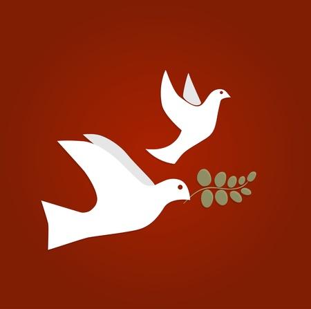 Dove of Peace Vector Illustration