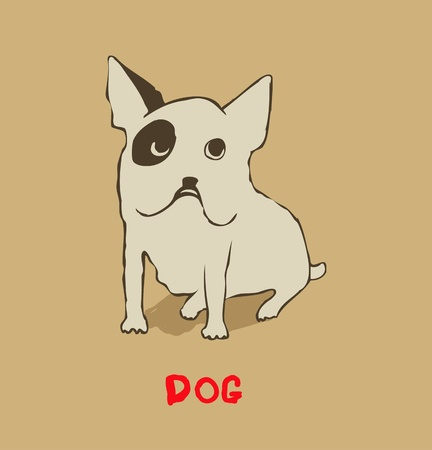 bull's eye: French Bulldog Illustration